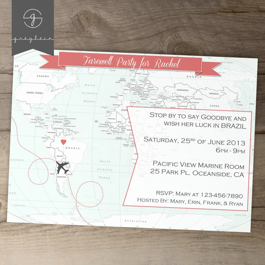 Going Away Party Invitation Luxury Going Away Party Invitations Goodbye Party Invites by