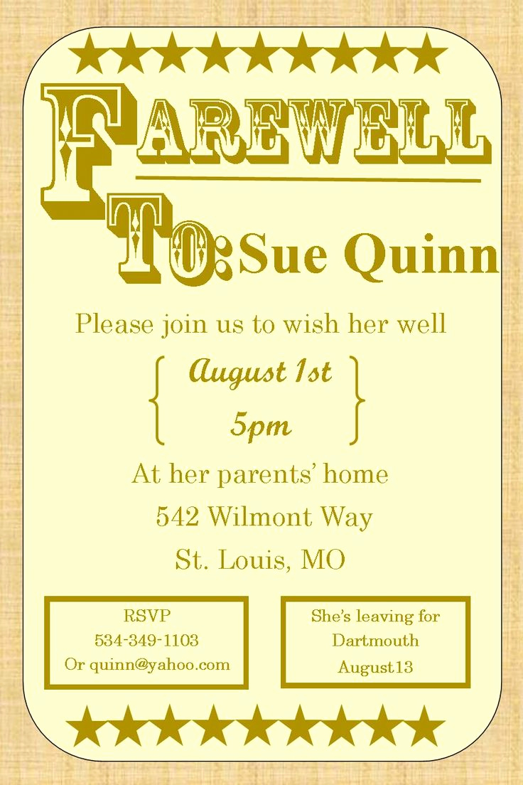 Going Away Party Invitation New 39 Best Images About Farewell Going Away Invitations On