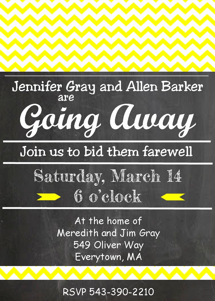 Going Away Party Invitation Unique Going Away Party Invitations New Selections 2017