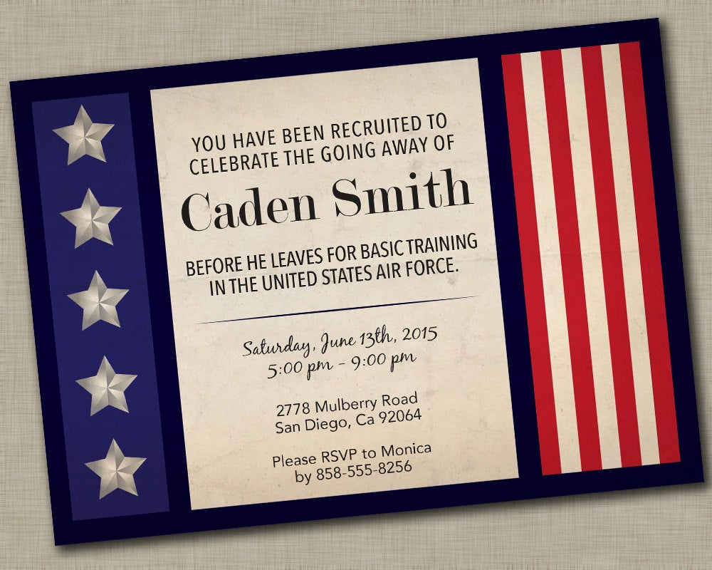 military going away party invitation