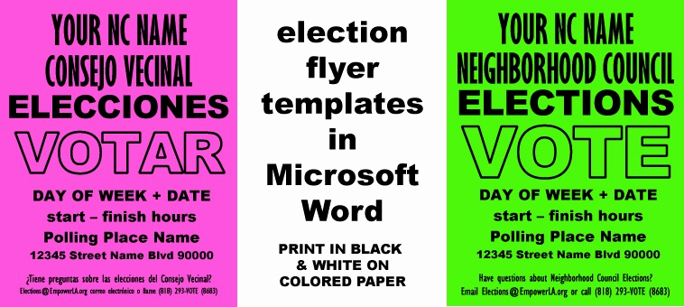 Google Doc Flyer Template Unique Outreach Best Practices Cheap & Easy Elections Flyer