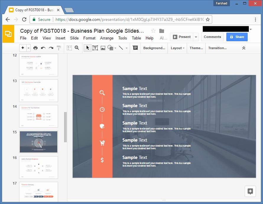 Google Docs Business Plan Template Beautiful Free Business Plan Template for Google Slides