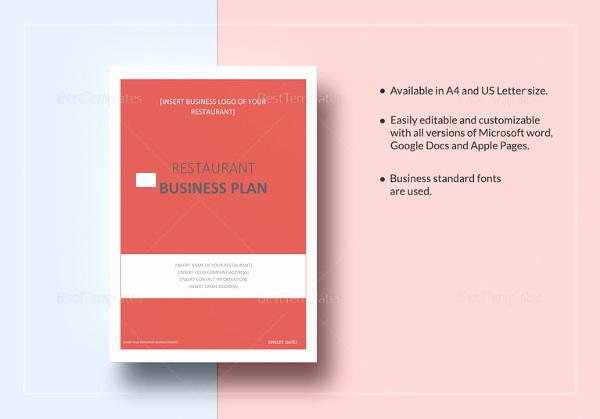 Google Docs Business Plan Template Beautiful Restaurant Business Plan 16 Pdf Word Google Docs