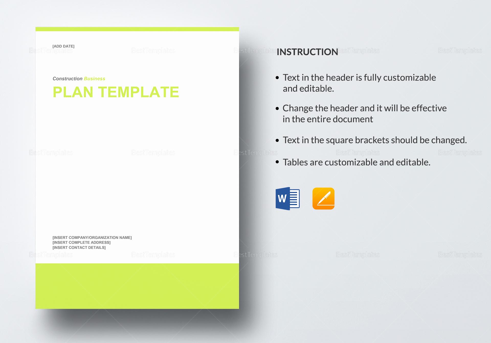 Google Docs Business Plan Template Inspirational Construction Business Plan Template In Word Google Docs