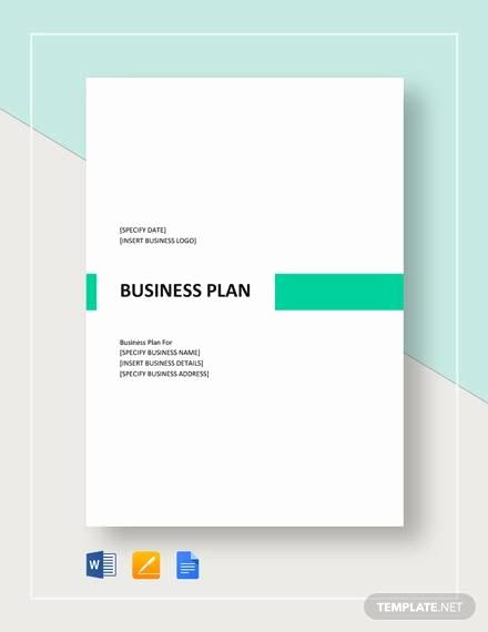 Google Docs Business Plan Template Luxury 32 Business Plan Templates Google Docs Word Apple Pages