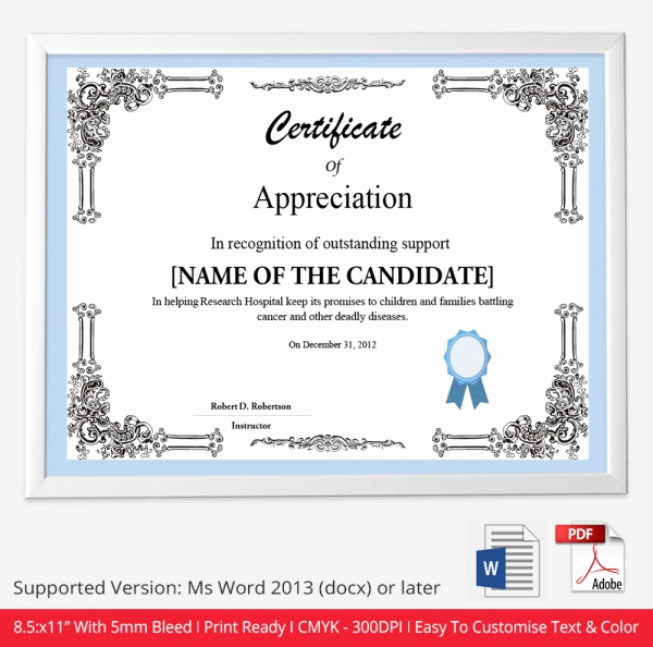 Google Docs Certificate Template Fresh Certificate Template 50 Free Printable Word Excel Pdf