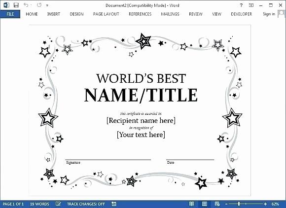 Google Docs Certificate Template Inspirational Certificate Template Google Docs 2018
