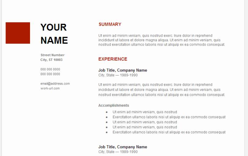 Google Docs Checklist Template Inspirational Google Resume Examples