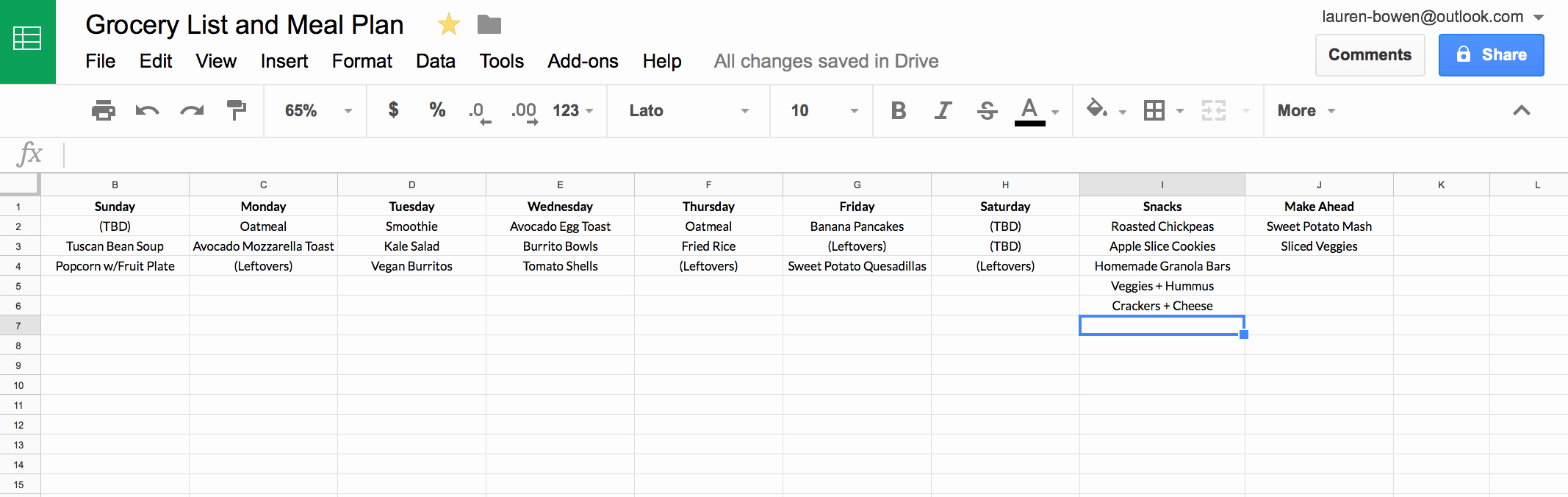 Google Docs Checklist Template Inspirational How I Use Google Sheets for Grocery Shopping and Meal Planning