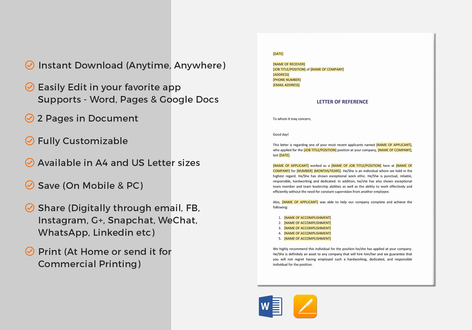 Google Docs Letter Template New Short Letter Of Reference Template In Word Google Docs