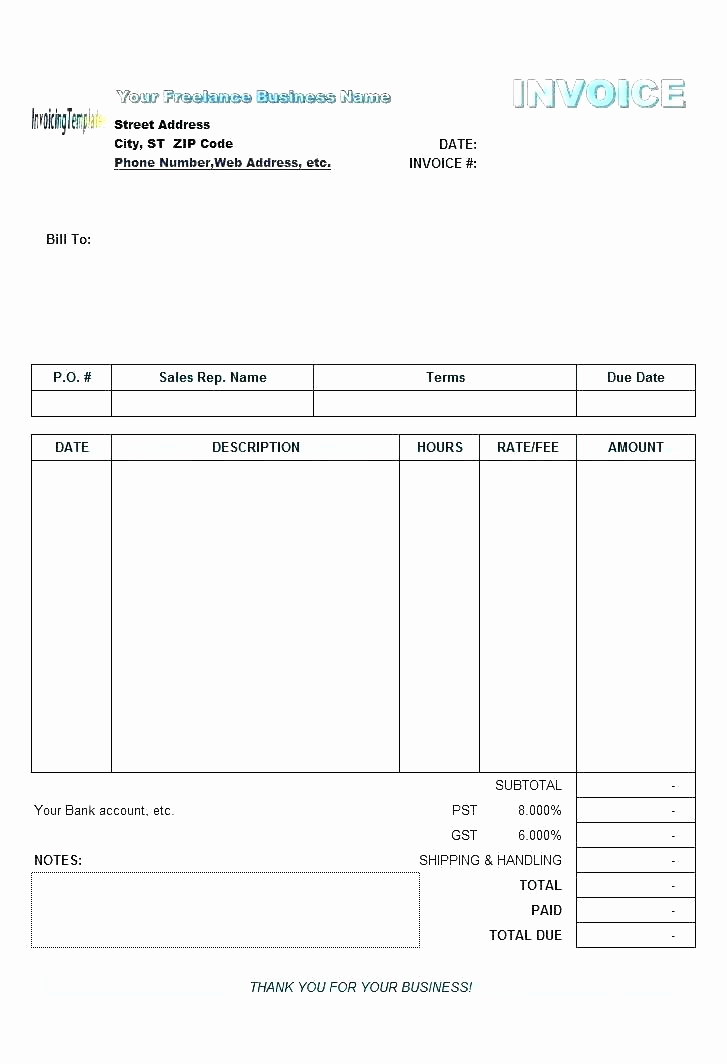 Google Docs Receipt Template Elegant Invoice Template for Google Docs