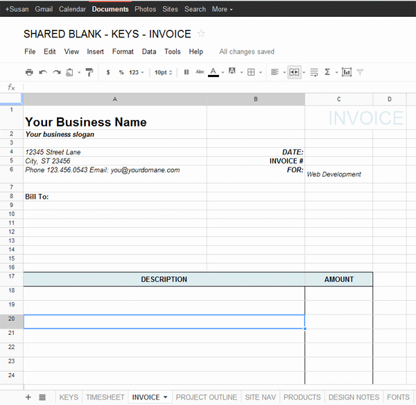 Google Docs Receipt Template Fresh Google Docs Invoice Template