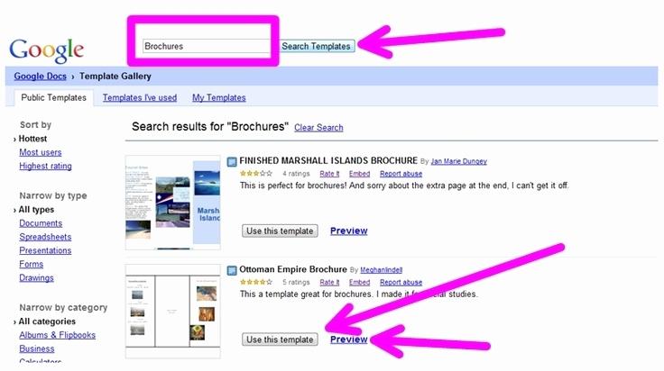brochure templates google docs 2