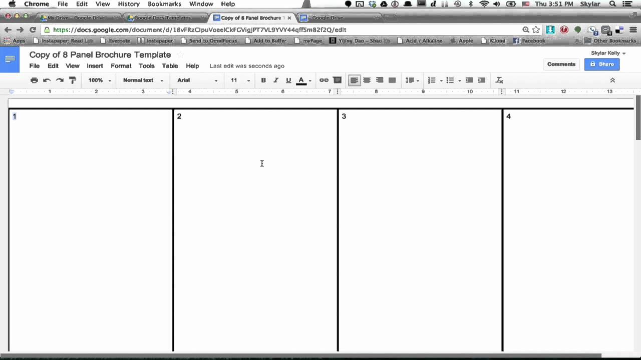 Google Drive Brochure Template Luxury 6 Panel Brochure Template Google Docs
