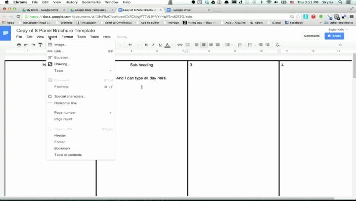 Google Drive Brochure Template Unique 6 Panel Brochure Template Google Docs