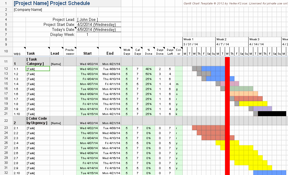Google Sheets Schedule Template Beautiful Creating A Gantt Chart with Excel is Getting even Easier