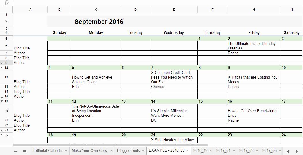 Google Sheets Schedule Template Elegant Free 2019 Editorial Calendar In Google Sheets