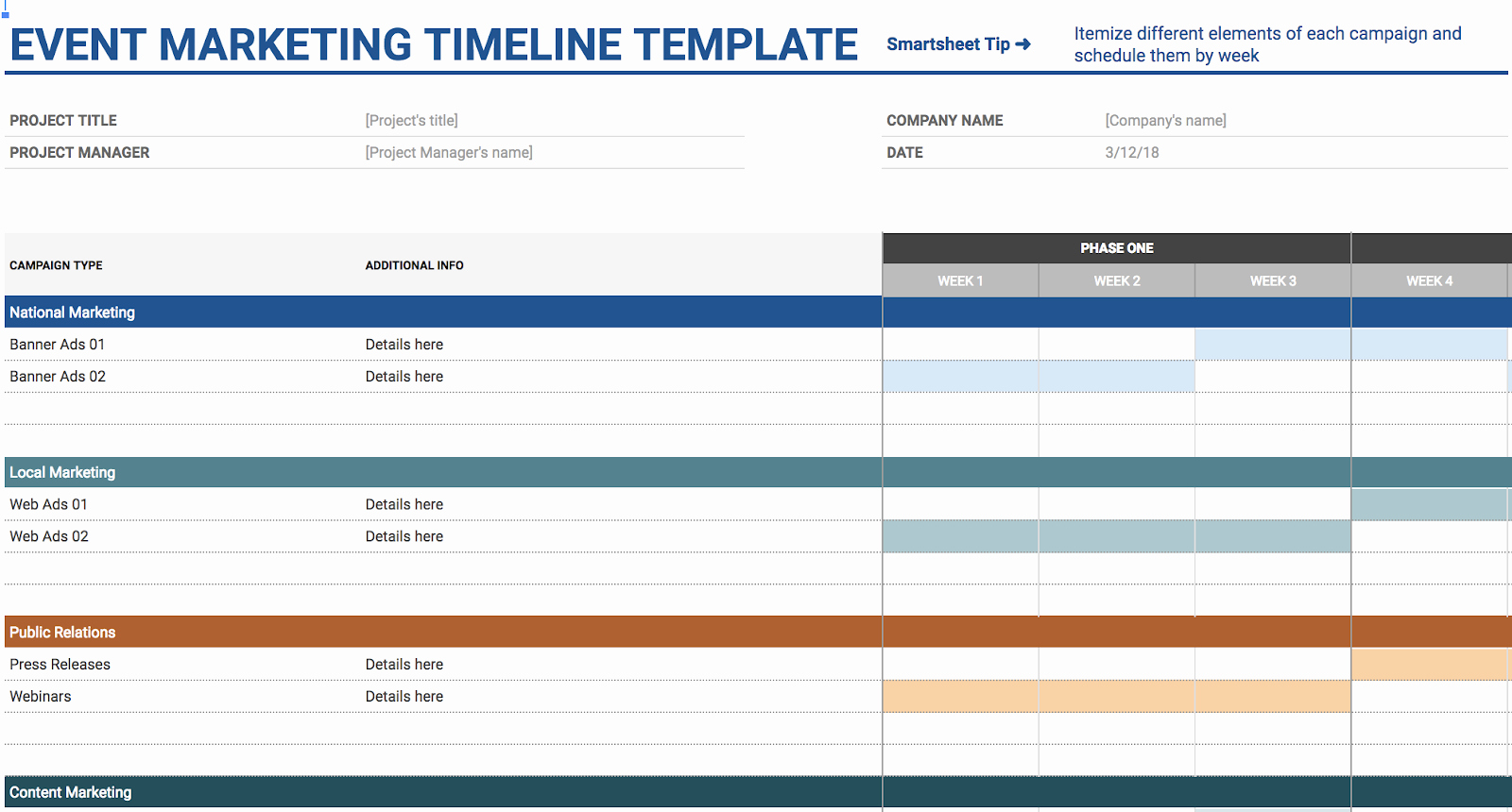 Google Sheets Schedule Template Fresh 11 Of the Best Free Google Sheets Templates for 2019