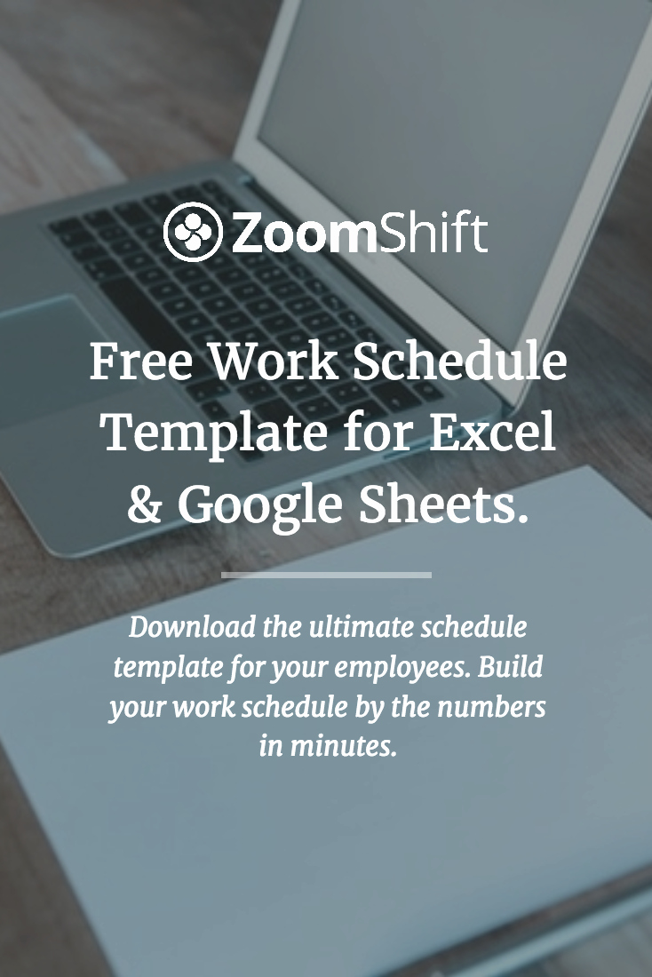 Google Sheets Schedule Template Fresh Free Work Schedule Template for Excel and Google Sheets