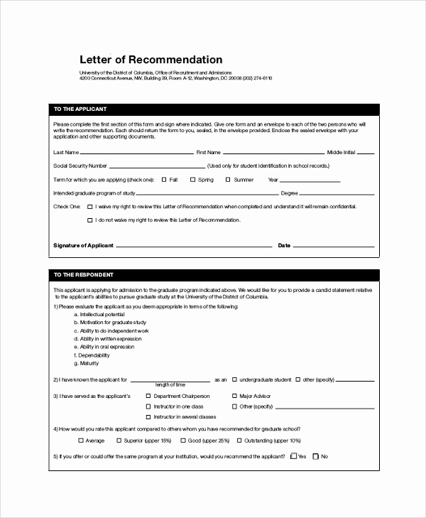 Grad School Letter Of Recommendation Unique 44 Sample Letters Of Re Mendation for Graduate School
