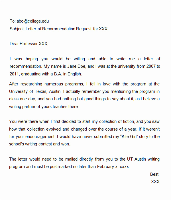 Grad School Letter Of Recommendation Unique Letters Of Re Mendation for Graduate School 15