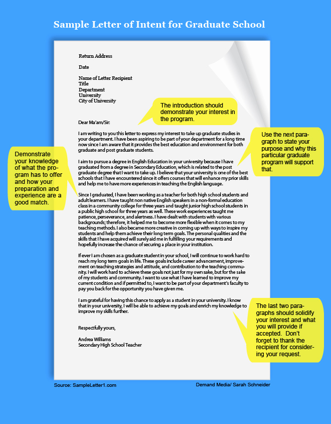 Graduate School Letter Of Intent Awesome How to Write A Letter Of Intent for Graduate School
