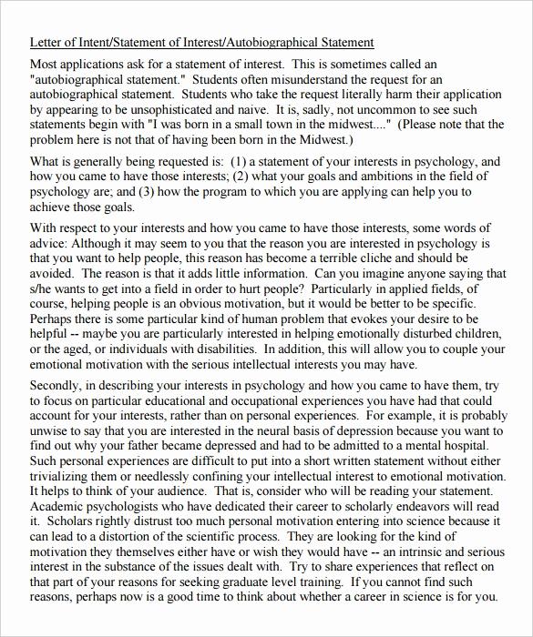Graduate School Letter Of Intent Beautiful 13 School Letter Intent Templates Pdf Doc