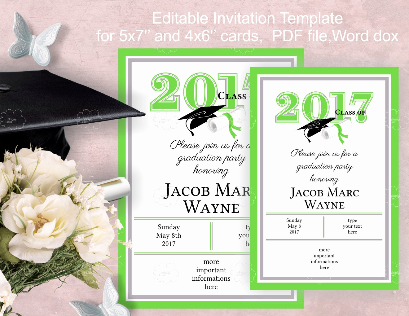 Graduation Party Invitations Templates Awesome Graduation Party Invitation Template Edit Yourself