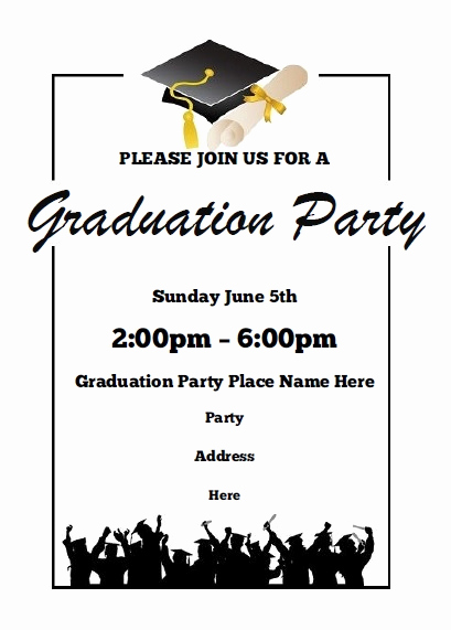 Graduation Party Invitations Templates Awesome Graduation Party Invitations Free Printable