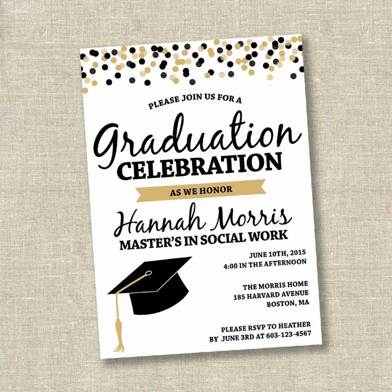 Graduation Party Invitations Templates Beautiful Graduation Invitation College Graduation Invitation High