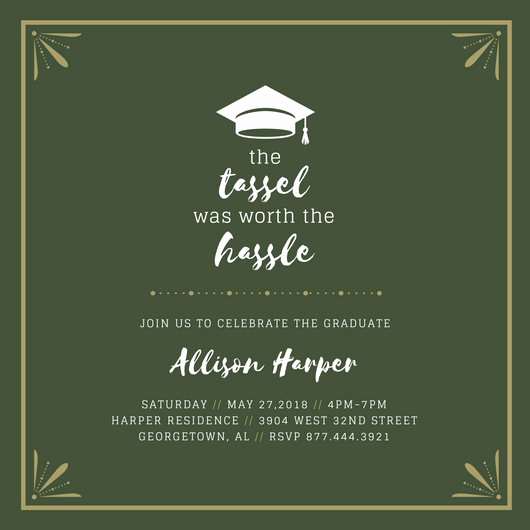 Graduation Party Invitations Templates Elegant Customize 90 Graduation Invitation Templates Online Canva