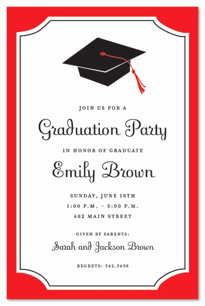 Graduation Party Invitations Templates Elegant Graduation Invitations