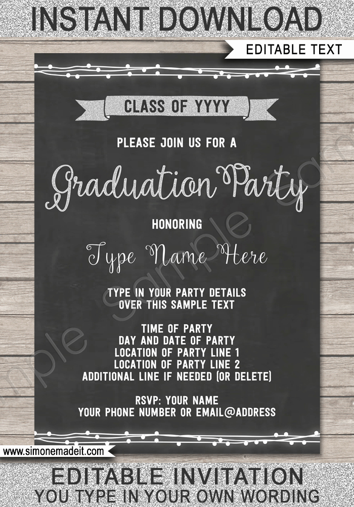 Graduation Party Invitations Templates Elegant Graduation Party Invitation