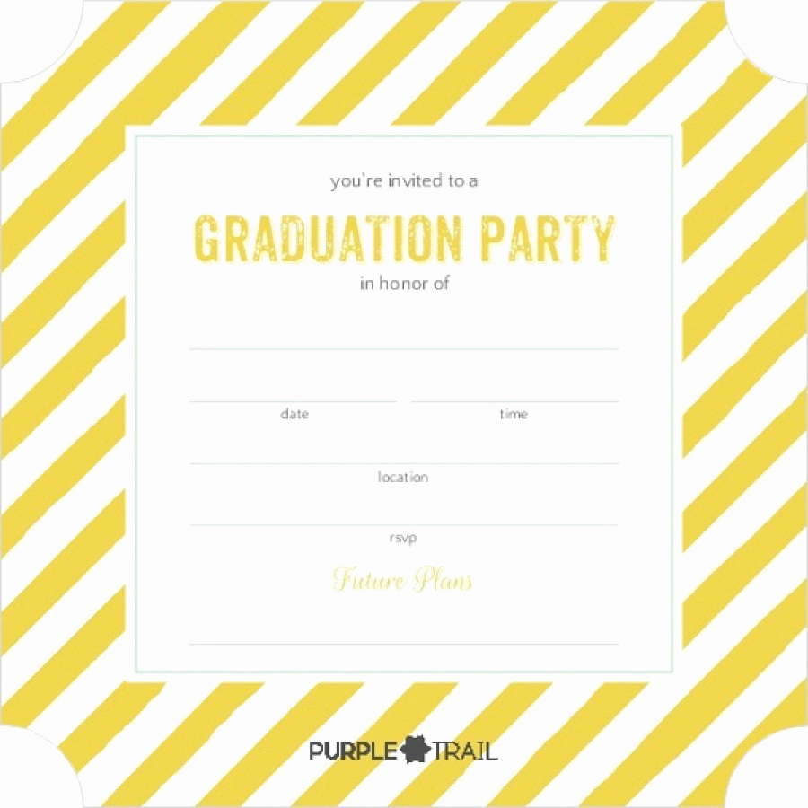 Graduation Party Invitations Templates Fresh 40 Free Graduation Invitation Templates Template Lab