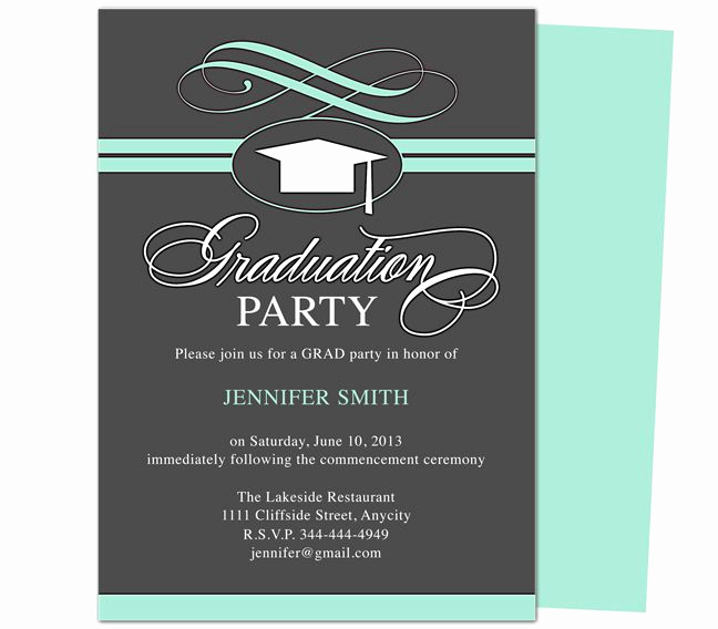 Graduation Party Invitations Templates Inspirational 46 Best Printable Diy Graduation Announcements Templates