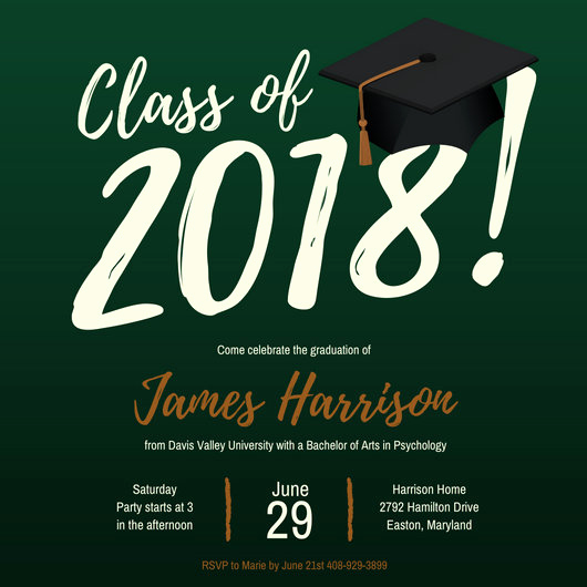 Graduation Party Invitations Templates Inspirational Customize 86 Graduation Invitation Templates Online Canva