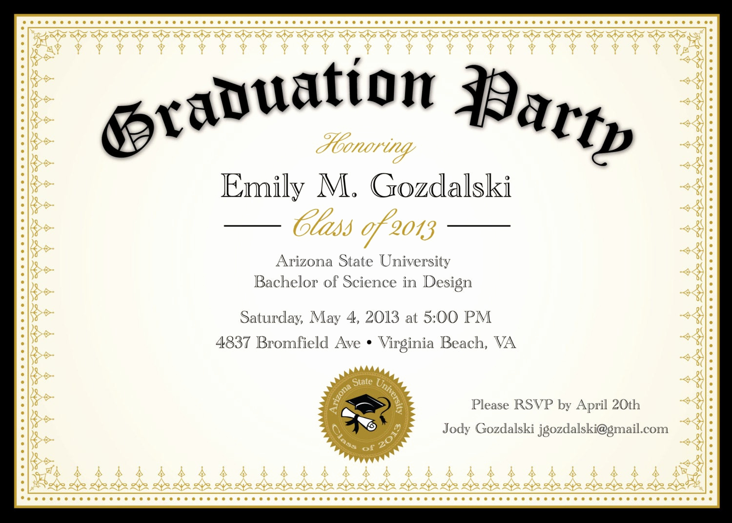 Graduation Party Invitations Templates Inspirational Diploma Graduation Party Invitations Grad by Announceitfavors