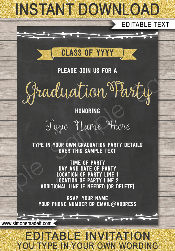 Graduation Party Invitations Templates Lovely Graduation Party Printables Invitations & Decorations