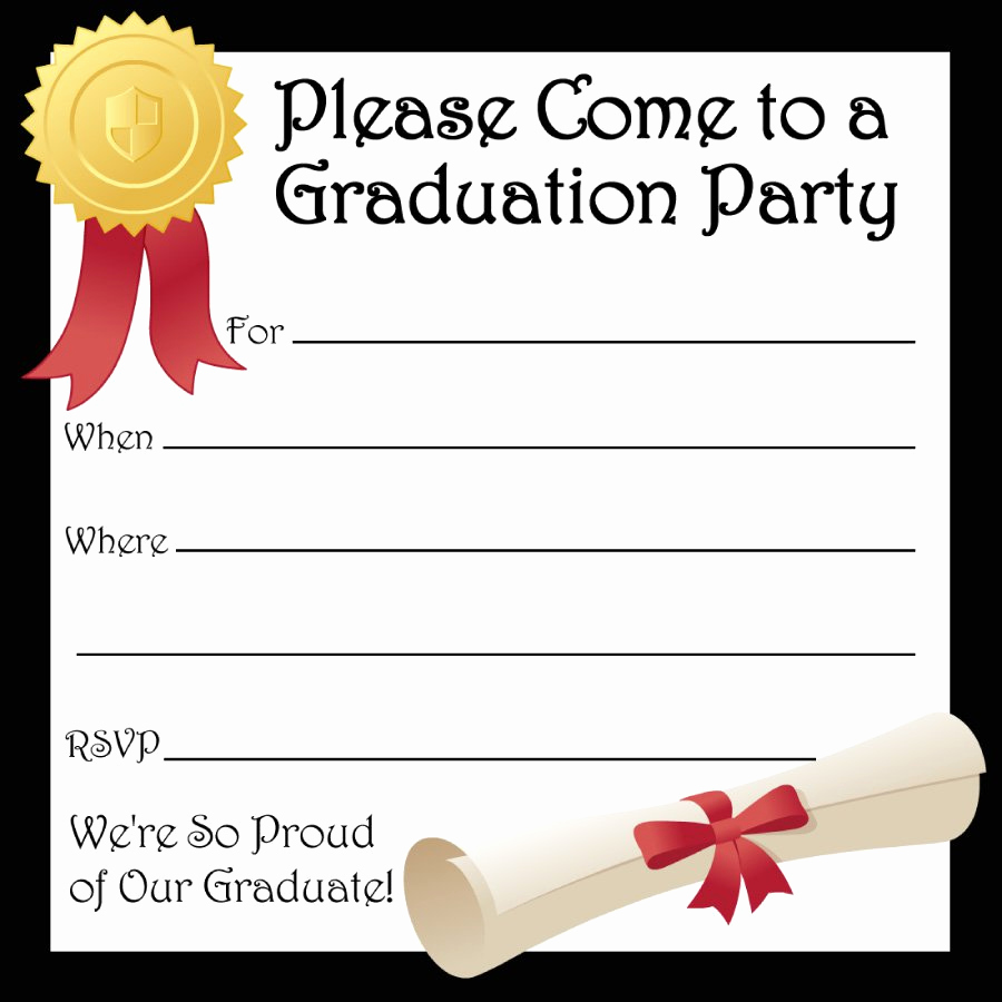 Graduation Party Invitations Templates Luxury 40 Free Graduation Invitation Templates Template Lab