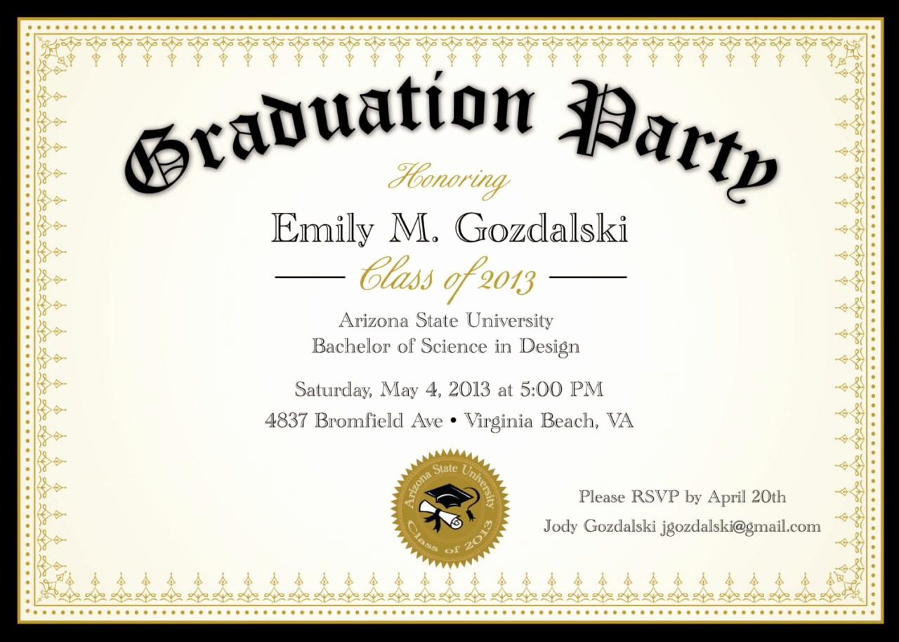 Graduation Party Invitations Templates Luxury Diploma Graduation Party Invitations Grad Announcement