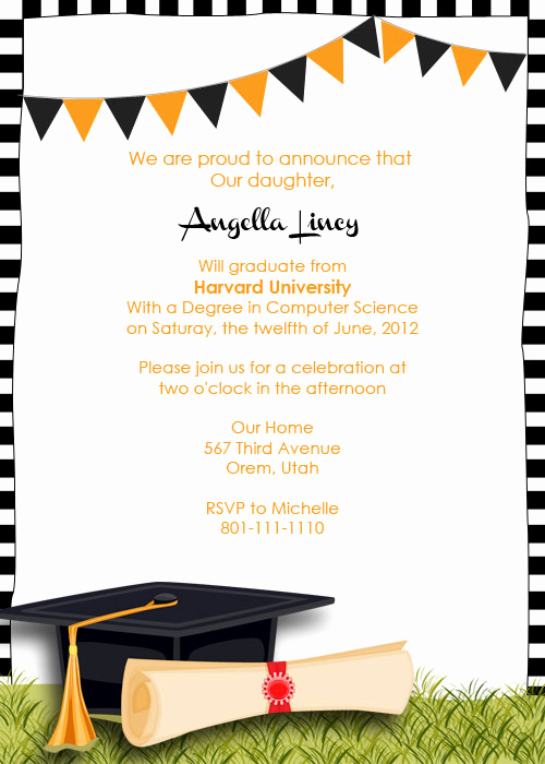 Graduation Party Invitations Templates Luxury Graduation Party Invitation ← Wedding Invitation Templates