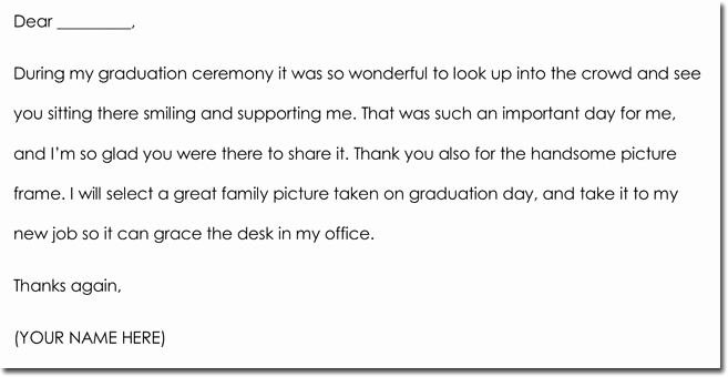 Graduation Thank You Letter Awesome 8 Graduation Thank You Note Templates & Wording Ideas