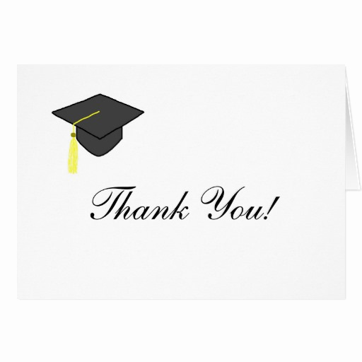 Graduation Thank You Letter Awesome Graduation Cap Thank You Note Card