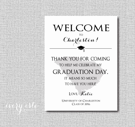 Graduation Thank You Letter Best Of Custom State Graduation Wel E Note Thank You Digital File