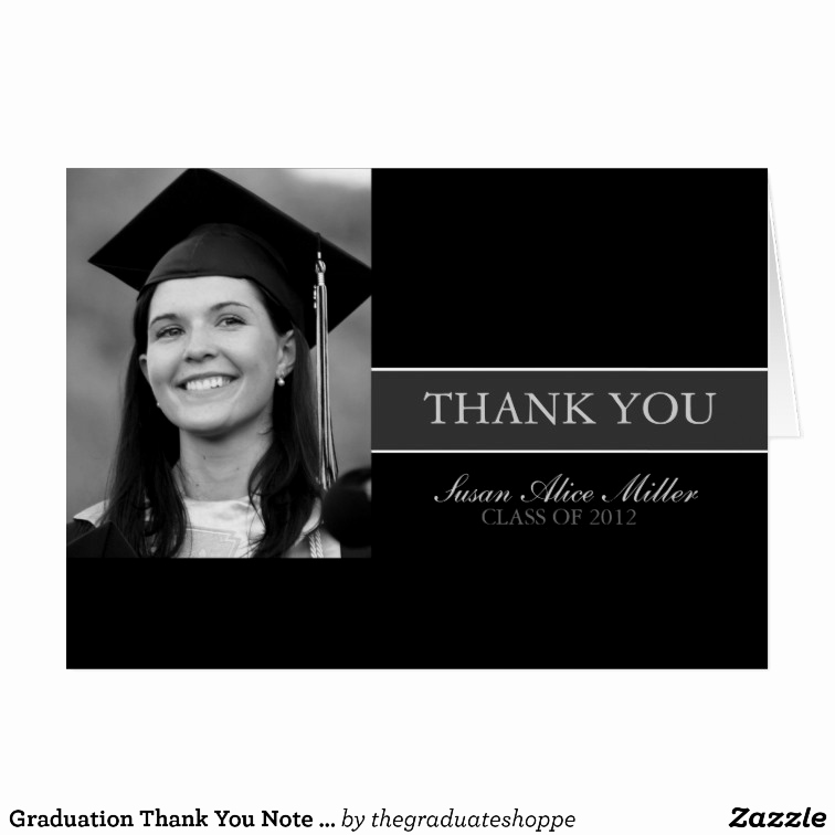 Graduation Thank You Letter Inspirational Graduation Thank You Note Cards