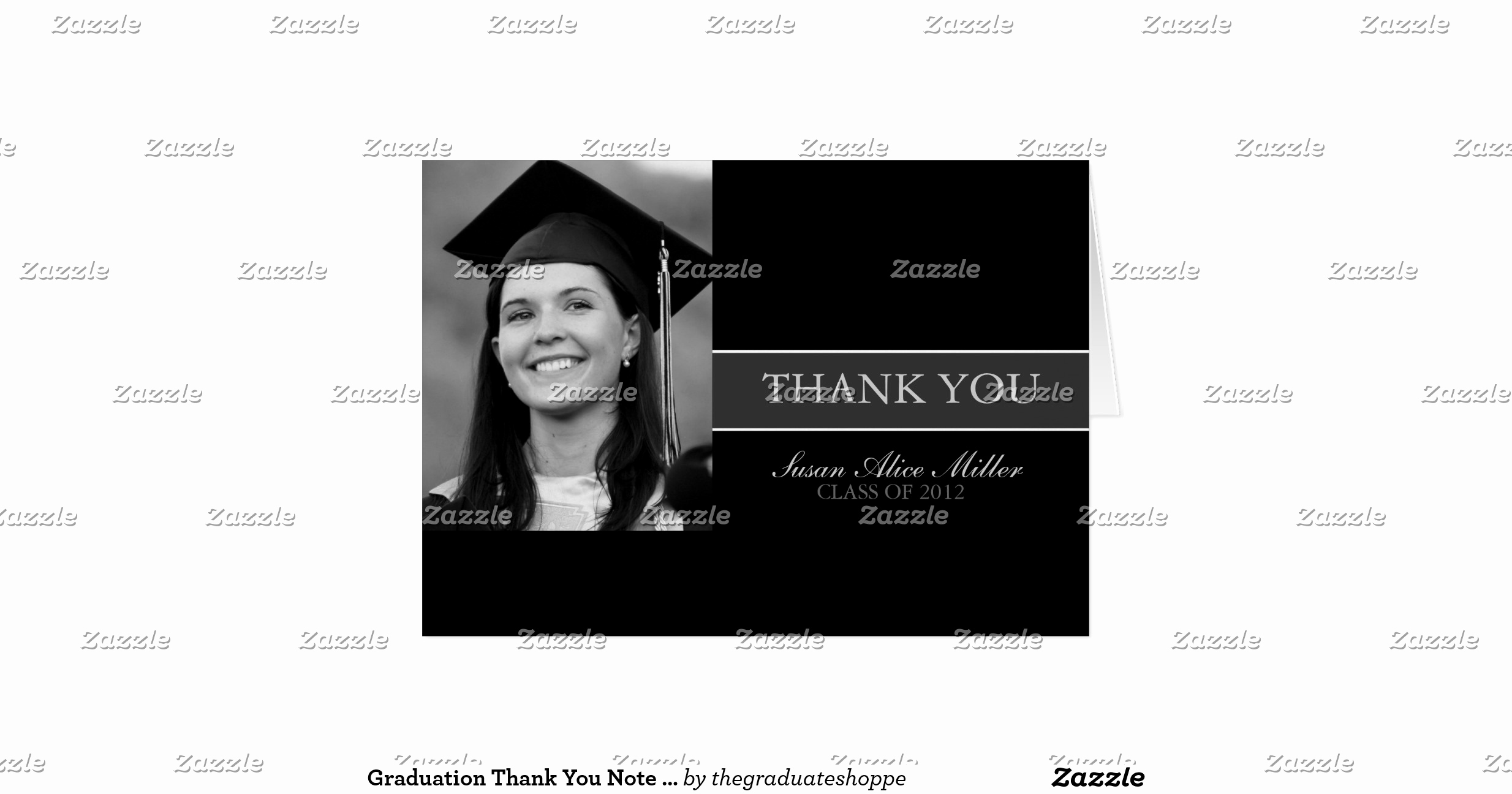 Graduation Thank You Letter Luxury Graduation Thank You Note Cards
