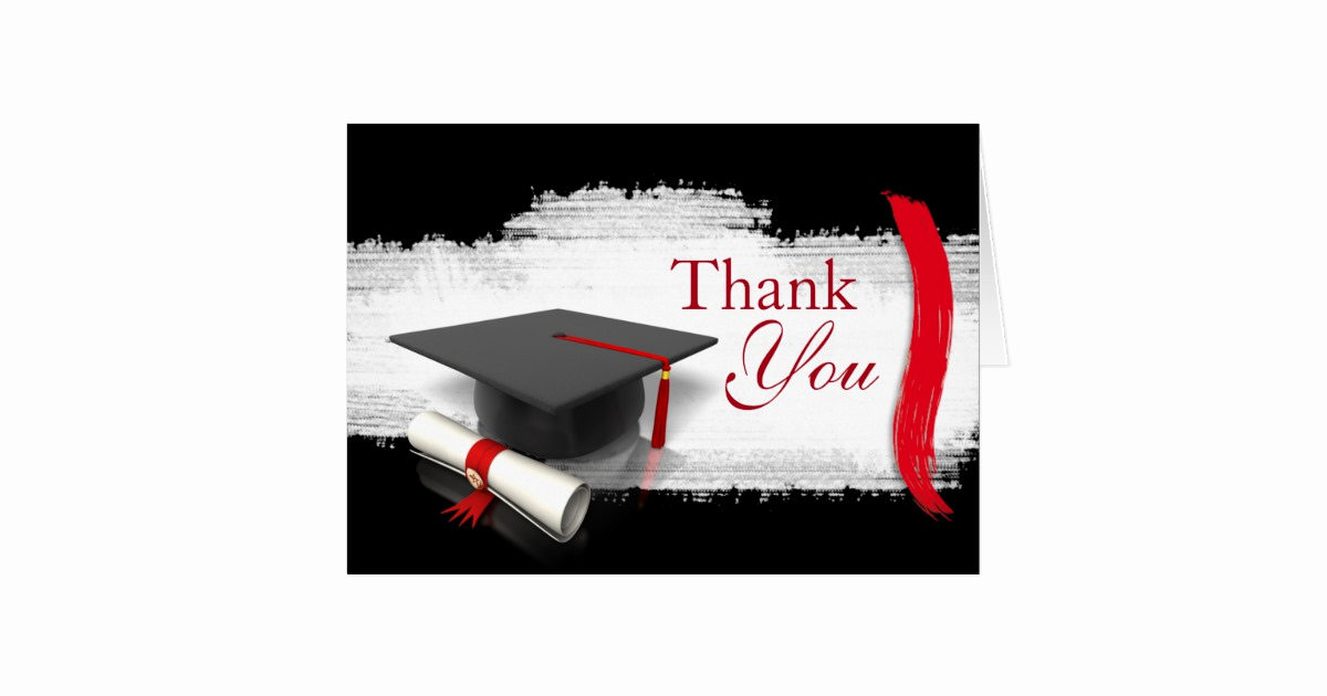 Graduation Thank You Letter Luxury Modern Graduation Thank You Notes