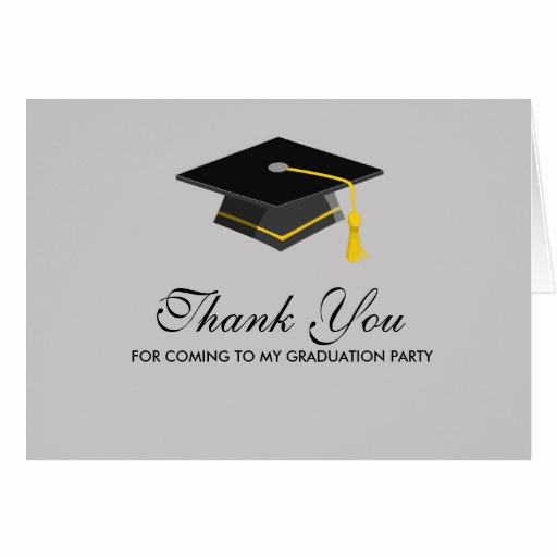 Graduation Thank You Letter New Black Cap Graduation Thank You Note Card