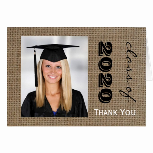 Graduation Thank You Letter New Burlap Graduation Thank You Note Cards