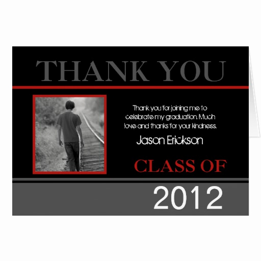 Graduation Thank You Notes Best Of Custom Graduation Thank You Cards Red